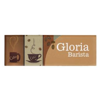 Etiqueta conocida del café etiqueta con nombre
