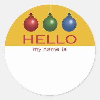 Etiqueta conocida del navidad o de la celebración