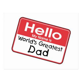 Etiqueta conocida del papá tarjetas postales