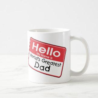 Etiqueta conocida del papá taza