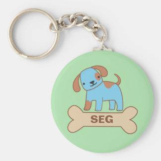 Etiqueta conocida del perrito llavero personalizado