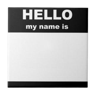 Etiqueta conocida - HOLA mi nombre es Teja Cerámica