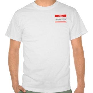 Etiqueta conocida camisetas