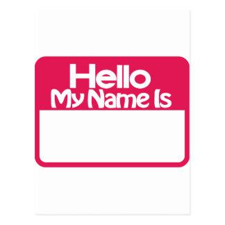 Etiqueta conocida postales