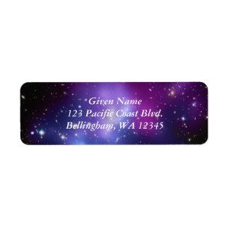 Etiqueta cósmica de Avery de las púrpuras Etiqueta De Remitente