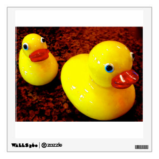 Etiqueta cuadrada de goma de la pared de Duckies Vinilo