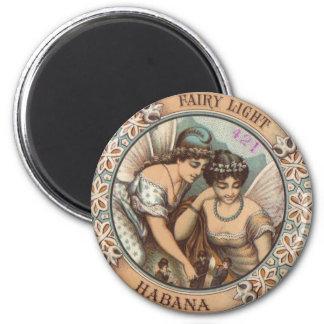Etiqueta cubana de la caja de cigarros de Habana d Imán Redondo 5 Cm
