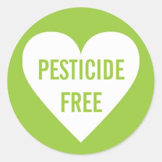 Etiqueta culinaria orgánica sin pesticidas