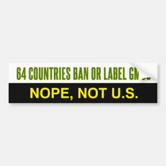 Etiqueta de 64 países o pegatina para el pegatina para auto