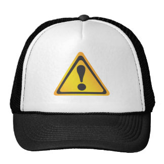 Etiqueta de advertencia amarilla gorra