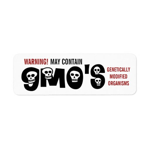 Etiqueta de advertencia de GMO Etiqueta De Remitente