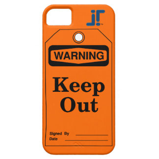 Etiqueta de advertencia funda para iPhone 5 barely there