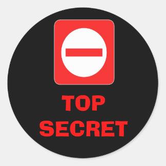 Etiqueta de advertencia secretísima confidencial