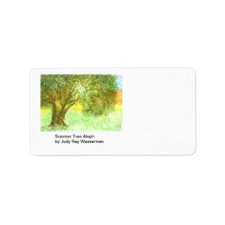 Etiqueta de Aleph del árbol del verano Etiqueta De Dirección