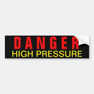 Etiqueta de alta presión de la seguridad del pelig pegatina para auto