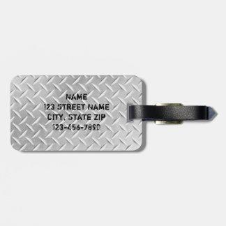 Etiqueta de aluminio cepillada del equipaje del me etiquetas de equipaje