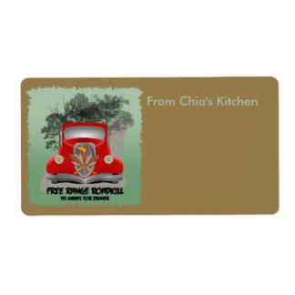 Etiqueta de Avery de la cocina de la cena de Roadk Etiquetas De Envío