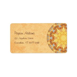 Etiqueta de Avery de la dirección de la mandala de Etiqueta De Dirección