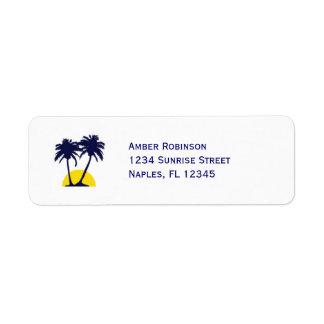 Etiqueta de Avery de la dirección de la palmera de Etiqueta De Remite
