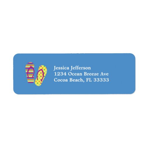 Etiqueta de Avery de la dirección de los flips-flo Etiqueta De Remite