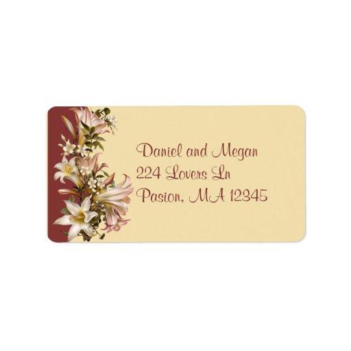 Etiqueta de Avery de la dirección del boda del Etiquetas De Dirección