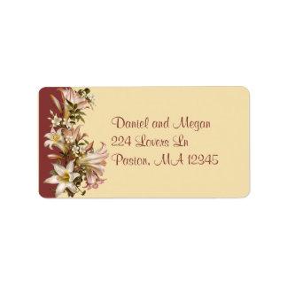Etiqueta de Avery de la dirección del boda del vin Etiquetas De Dirección