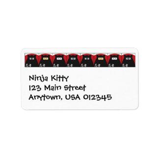 Etiqueta de Avery de la dirección del gatito de Etiqueta De Dirección