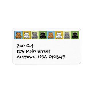 Etiqueta de Avery de la dirección del gato del zen Etiquetas De Dirección