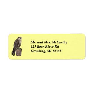 Etiqueta de Avery de la dirección del halcón de Etiqueta De Remite