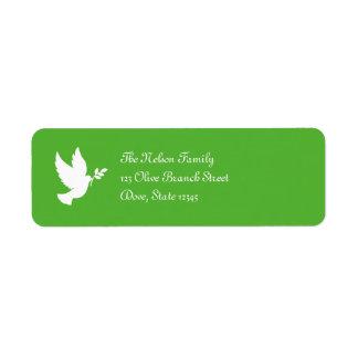 Etiqueta de Avery de la paloma de la paz Etiqueta De Remite