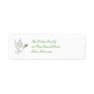 Etiqueta de Avery de la paloma de la paz Etiquetas De Remite
