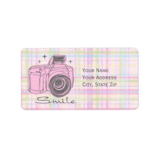 Etiqueta de Avery de la sonrisa de la cámara Etiqueta De Dirección