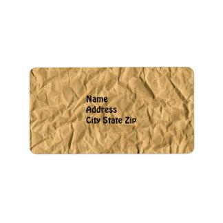 etiqueta de Avery de la textura del papel de embal Etiquetas De Dirección