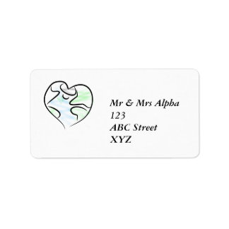 Etiqueta de Avery de la tierra del amor Etiquetas De Dirección