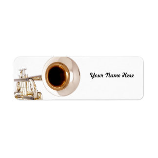 Etiqueta de Avery de la trompeta Etiquetas De Remite