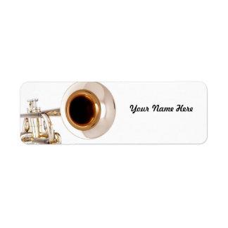 Etiqueta de Avery de la trompeta Etiqueta De Remite