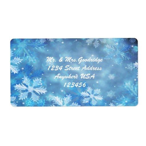 Etiqueta de Avery de los copos de nieve del navida Etiquetas De Envío