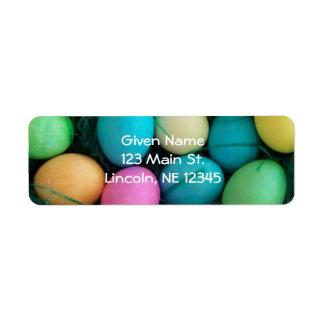 Etiqueta de Avery de los huevos de Pascua Etiqueta De Remitente