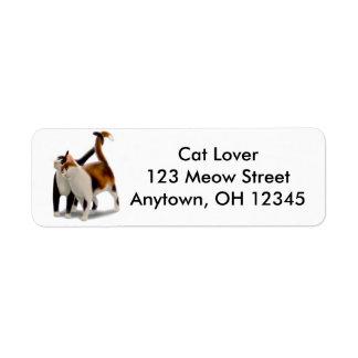 Etiqueta de Avery del amor del gatito Etiquetas De Remite