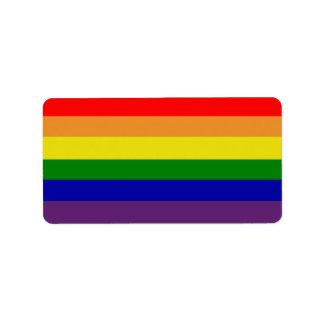 Etiqueta de Avery del arco iris Etiqueta De Dirección