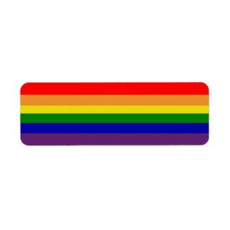 Etiqueta de Avery del arco iris Etiqueta De Remitente