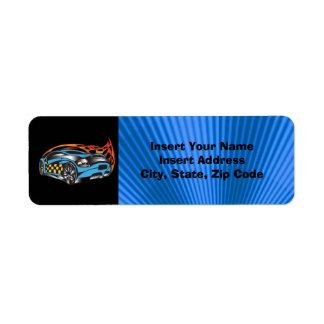 Etiqueta de Avery del coche de competición Etiqueta De Remite