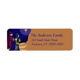 Etiqueta de Avery del día de fiesta de tres hombre Etiqueta De Remite