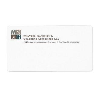 Etiqueta de Avery del monograma de cuatro rejillas Etiqueta De Envío