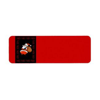 Etiqueta de Avery del navidad de Santa Ho Ho Ho Ho Etiquetas De Remite