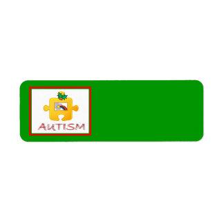 Etiqueta de Avery del navidad del autismo Etiqueta De Remitente