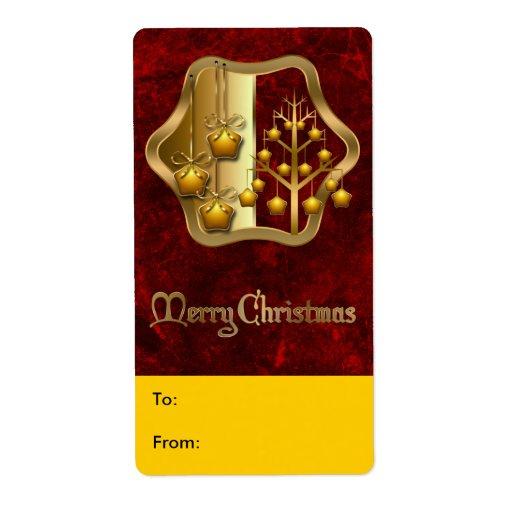 Etiqueta de Avery del regalo del navidad Etiquetas De Envío