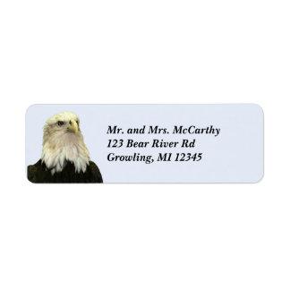 Etiqueta de Avery del remite de Eagle calvo Etiqueta De Remitente