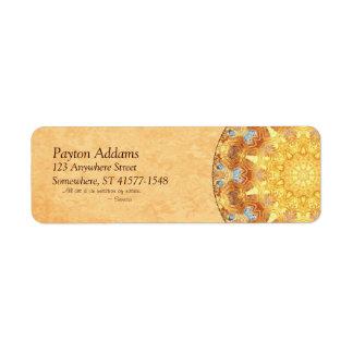 Etiqueta de Avery del remite de la mandala de la r Etiquetas De Remite