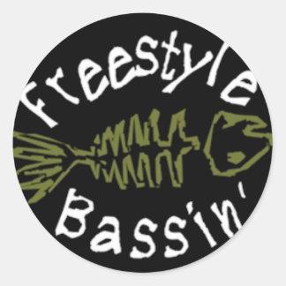 Etiqueta de Bassin del estilo libre